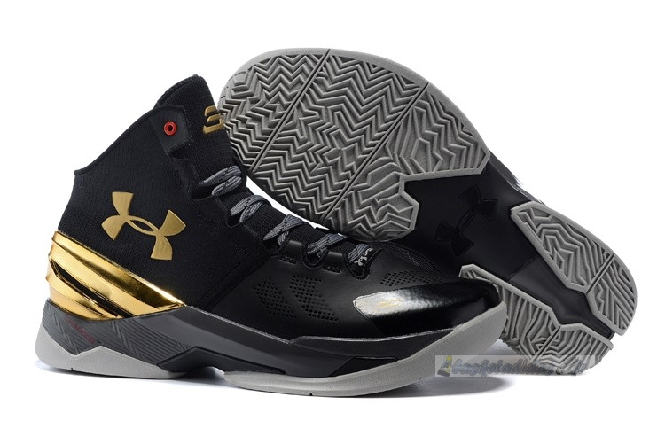 Chaussure de Basket Under Armour Curry 2 Noir Or