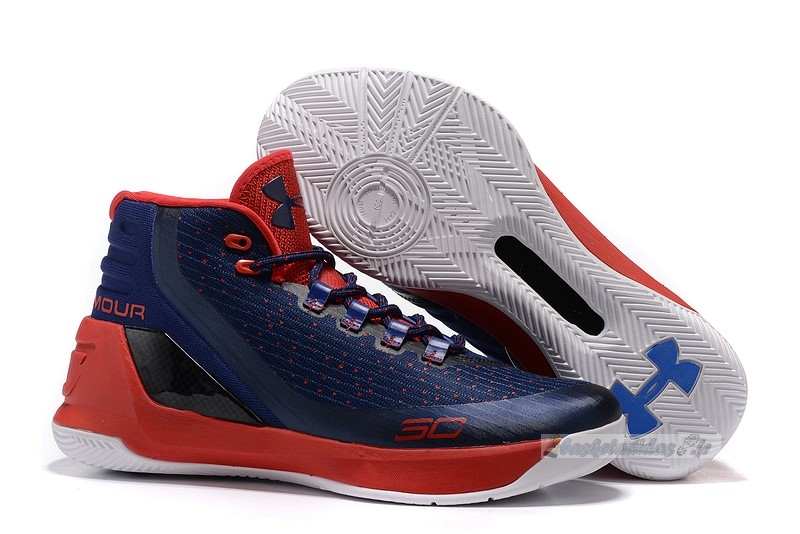 Chaussure de Basket Under Armour Curry 3 Marine Blanc Rouge