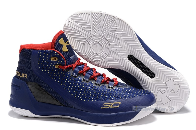 Chaussure de Basket Under Armour Curry 3 Marine Or Rouge