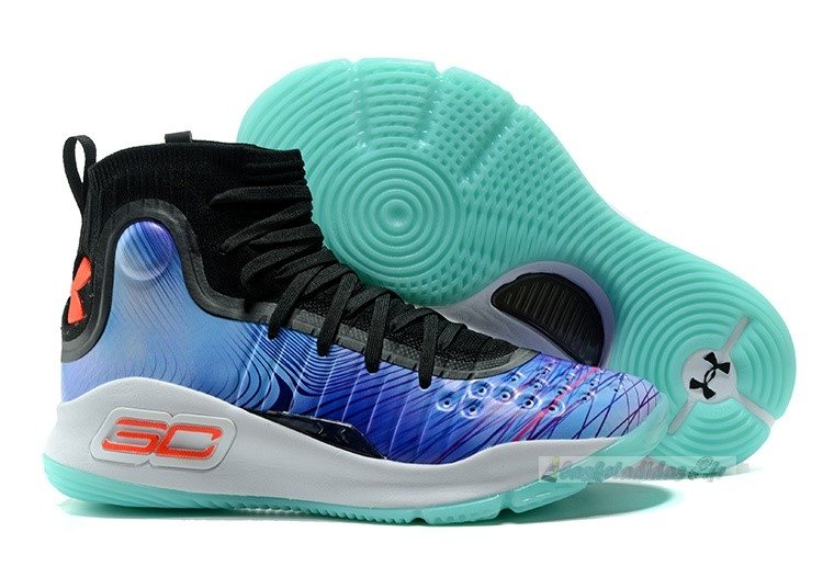 "Chaussure de Basket Under Armour Curry 4 Femme ""China Exclusive"" Bleu"