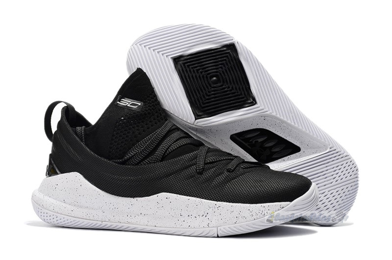 Chaussure de Basket Under Armour Curry 5 Low Noir Blanc