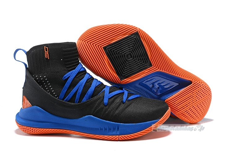 Chaussure de Basket Under Armour Curry 5 Noir Bleu Orange