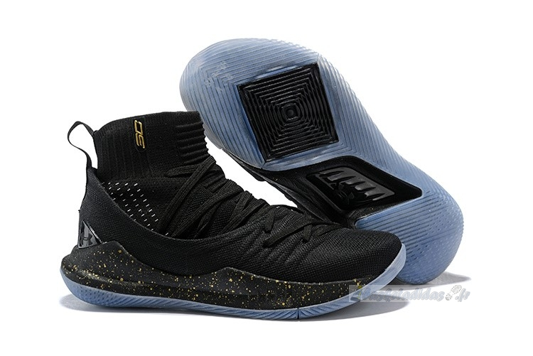 Chaussure de Basket Under Armour Curry 5 Noir Métallique Or