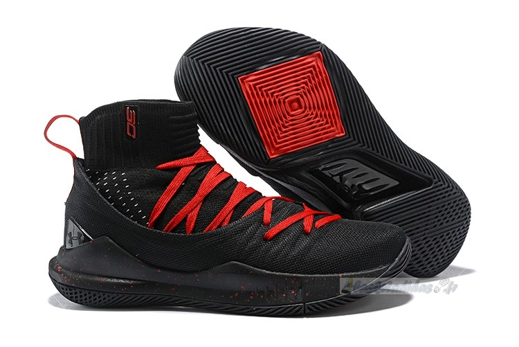 Chaussure de Basket Under Armour Curry 5 Noir Rouge