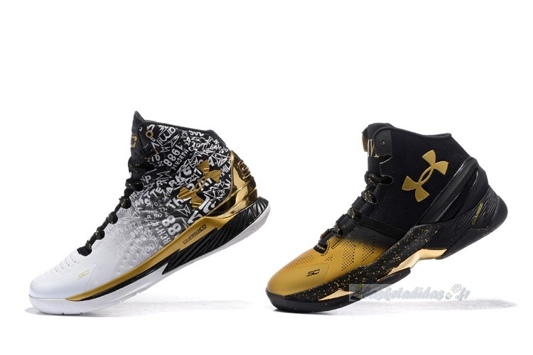 "Chaussure de Basket Under Armour Curry ""Back To Back"" Pack Noir Blanc"