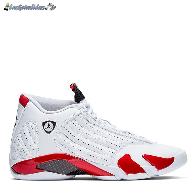 Chaussure de Basket Air Jordan 14 'White Varsity Red' Blanc Rouge (487471-100)