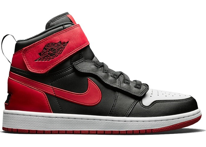 Chaussure de Basket Air Jordan 1 Flyease 'Bred White Toe' Noir Rouge (CQ3835-001)