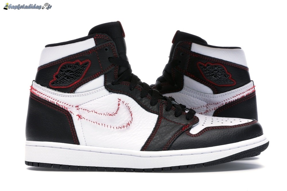 Chaussure de Basket Air Jordan 1 High Retro 'Defiant' Blanc Noir Rouge (CD6579-071)