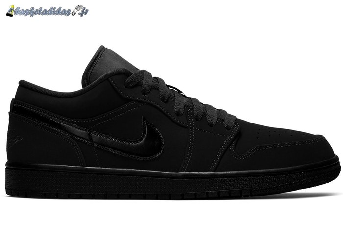 Chaussure de Basket Air Jordan 1 Low 'Triple Noir' (2019) Noir (553558-056)