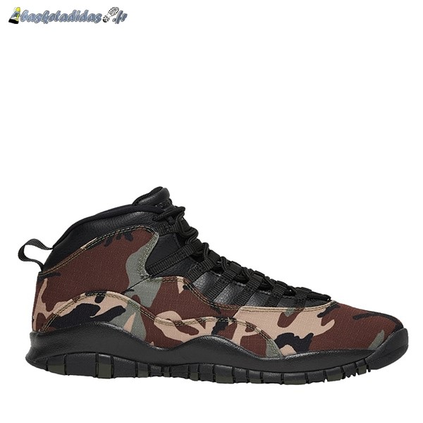 Chaussure de Basket Air Jordan 10 Retro 'Woodland Camo' Olive (310805-201)