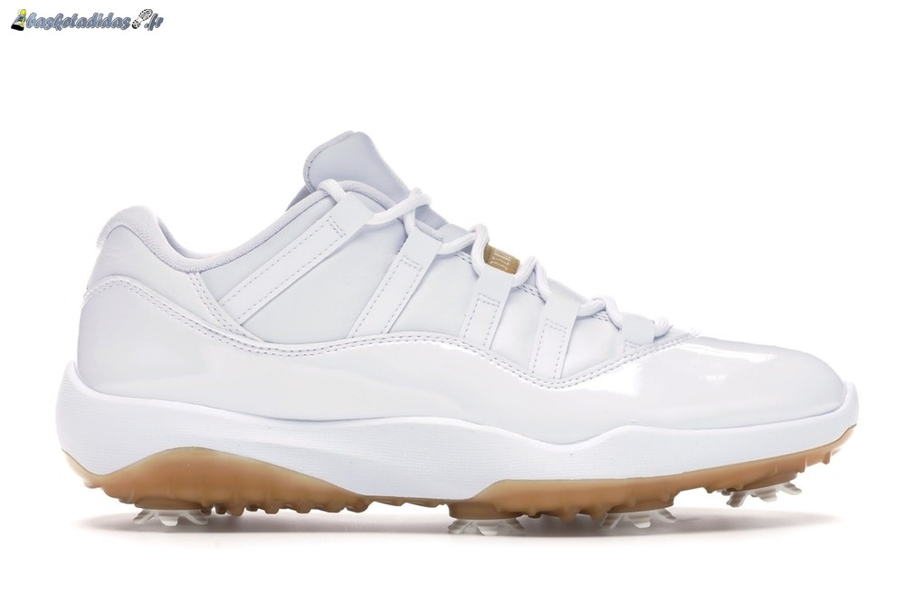 Chaussure de Basket Air Jordan 11 Low Retro Golf 'Metallic Gold' Blanc (AQ0963-102)