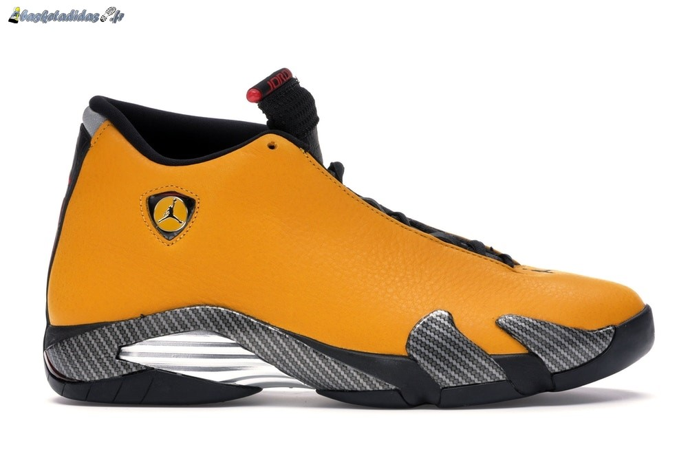 Chaussure de Basket Air Jordan 14 Retro 'Reverse Ferrari' Jaune Or (BQ3685-706)