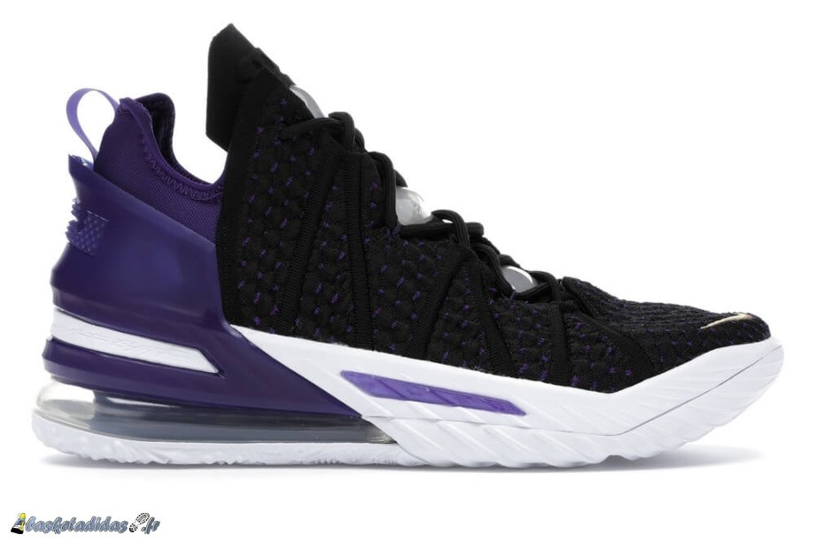"Nike LeLa Source 18 ""Lakers"" Blanc Noir (CQ9283-004/CQ9284-004)"