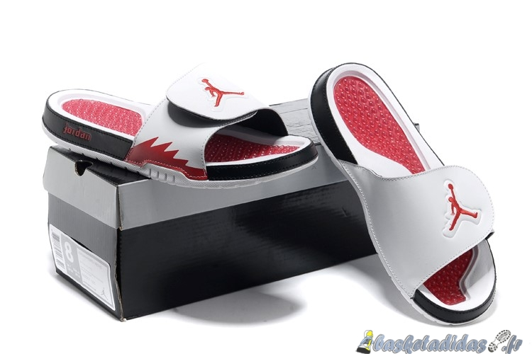 Chaussons Homme Jordan Hydro Blanc Red