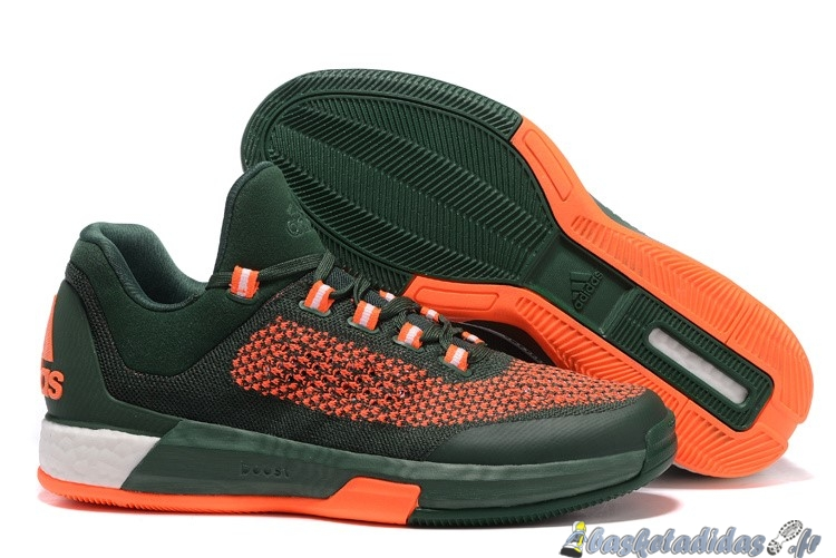 Chaussure de Basket Adidas Crazylight Jeremy Lin Homme Orange Vert