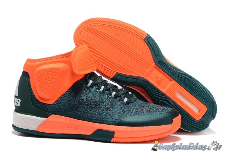 Chaussure de Basket Adidas Crazylight Jeremy Lin Homme Vert Orange
