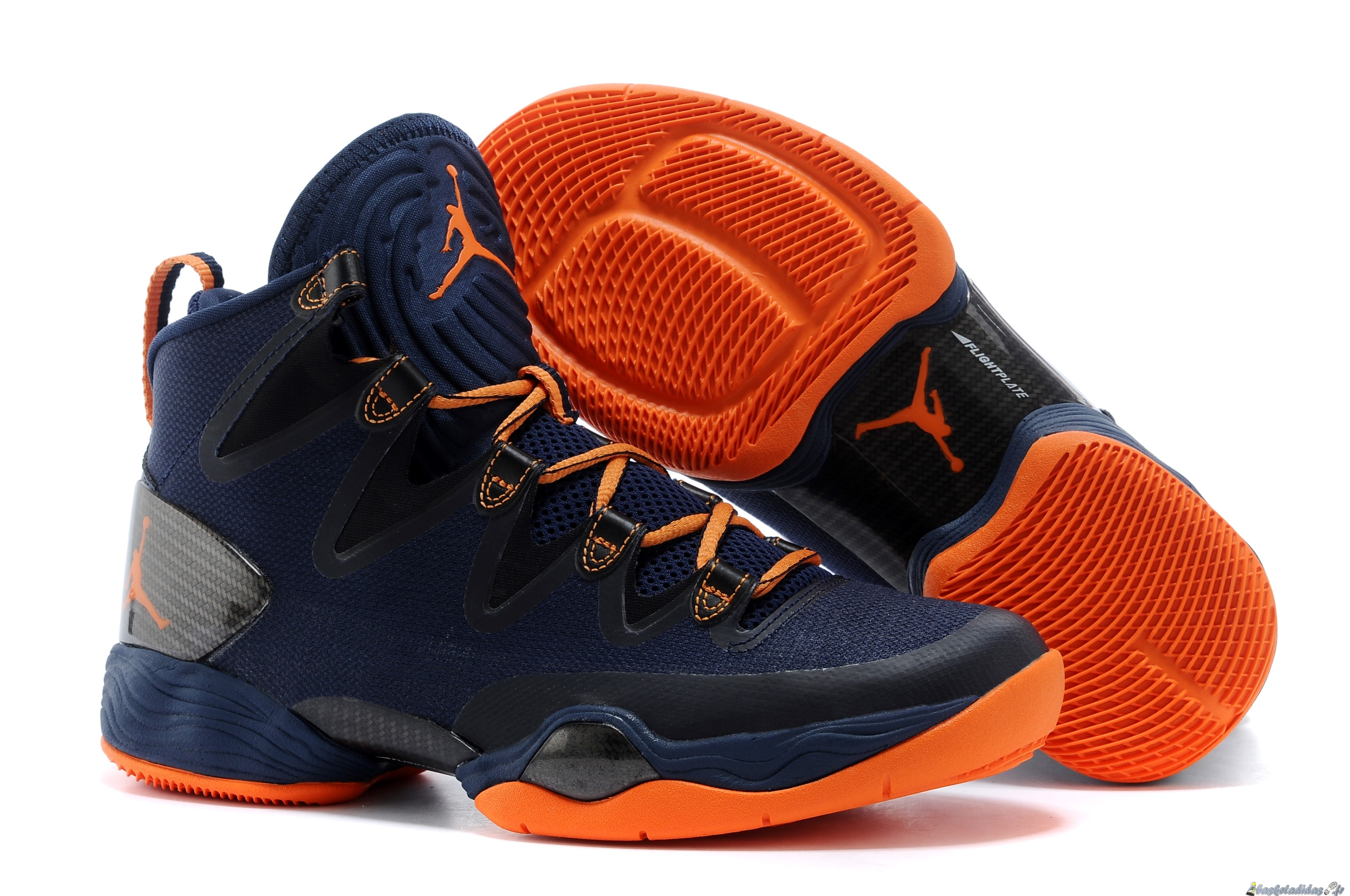 Chaussure de Basket Air Jordan 28 Homme Bleu Orange