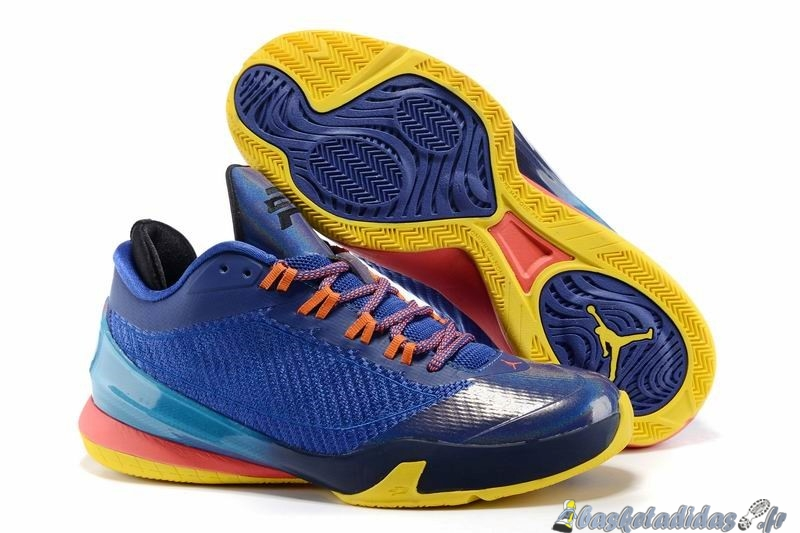 Chaussure de Basket Air Jordan Chris Paul 8 Homme Bleu Jaune