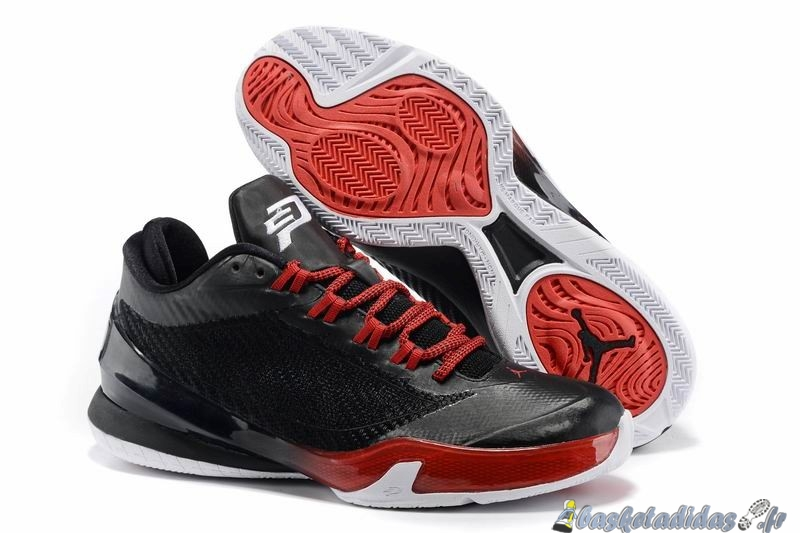 Chaussure de Basket Air Jordan Chris Paul 8 Homme Noir Rouge