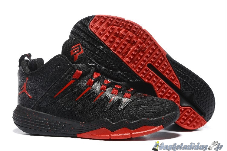 Chaussure de Basket Air Jordan Chris Paul 9 Homme Noir Rouge
