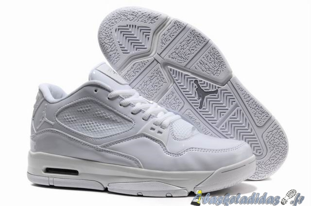 Chaussure de Basket Air Jordan Flight Homme Blanc