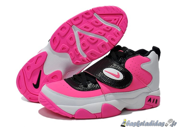 Chaussure de Basket Nike Air Mission Femme Rose Blanc