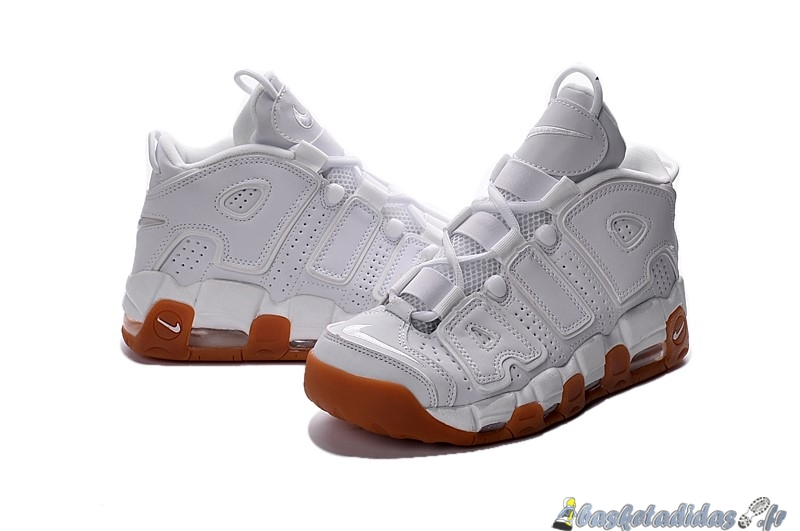 Chaussure de Basket Nike Air More Uptempo Homme Blanc