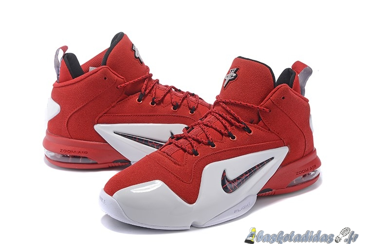 Chaussure de Basket Nike Air Penny 6 Homme Rouge Blanc