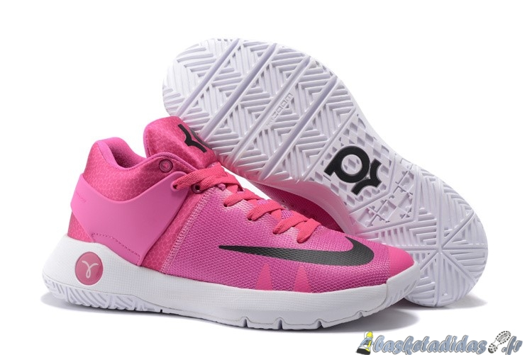 Chaussure de Basket Nike KD 5 Homme Rose Blanc