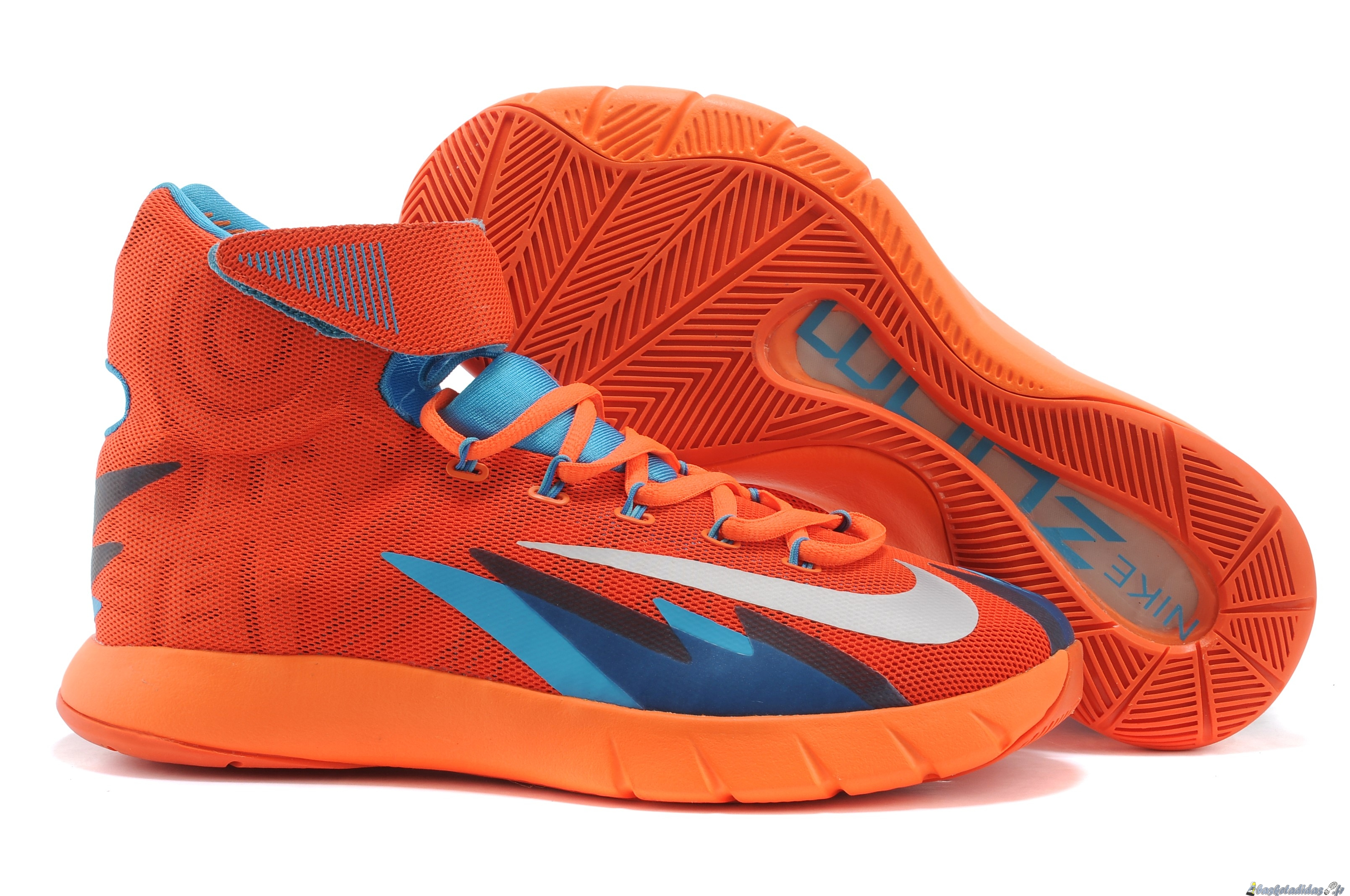 Chaussure de Basket Nike Zoom Hyperrev Kyrie Irving Homme Orange Gris