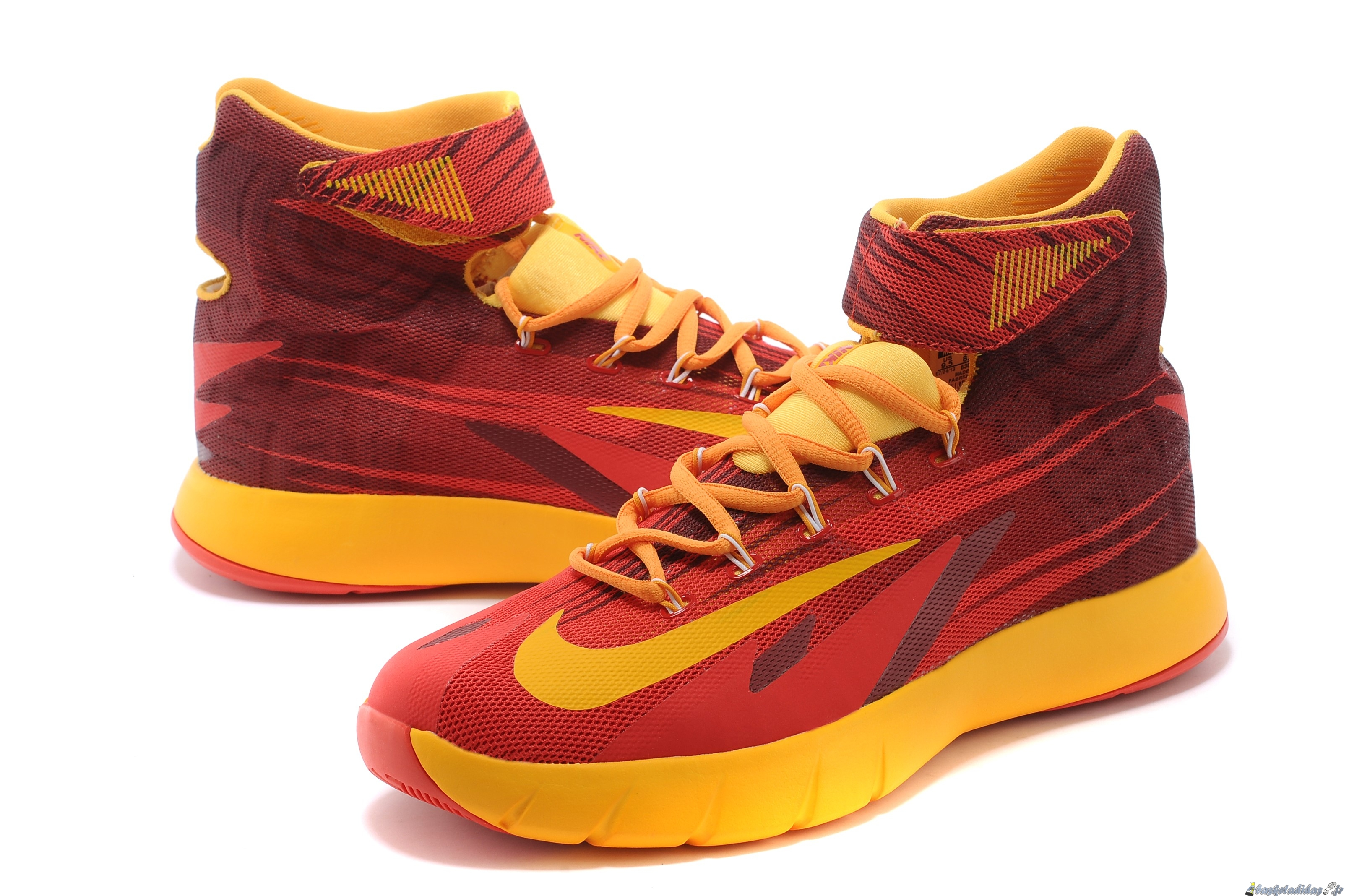 reputable site a4edf a0987 ... Chaussure de Basket Nike Zoom Hyperrev Kyrie Irving Homme Rouge Jaune  ...