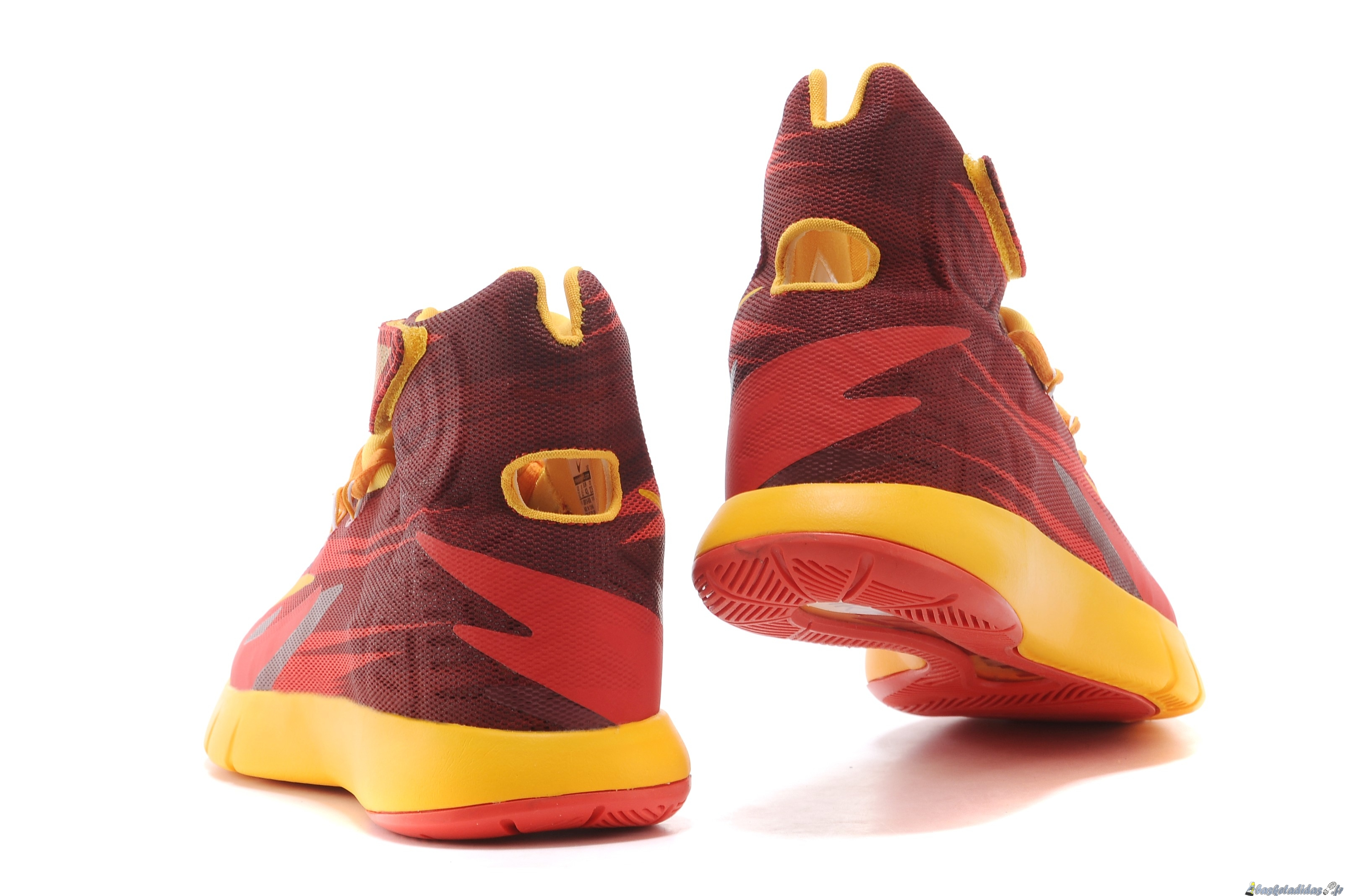 reputable site 2238c e9ebe ... Chaussure de Basket Nike Zoom Hyperrev Kyrie Irving Homme Rouge Jaune  ...