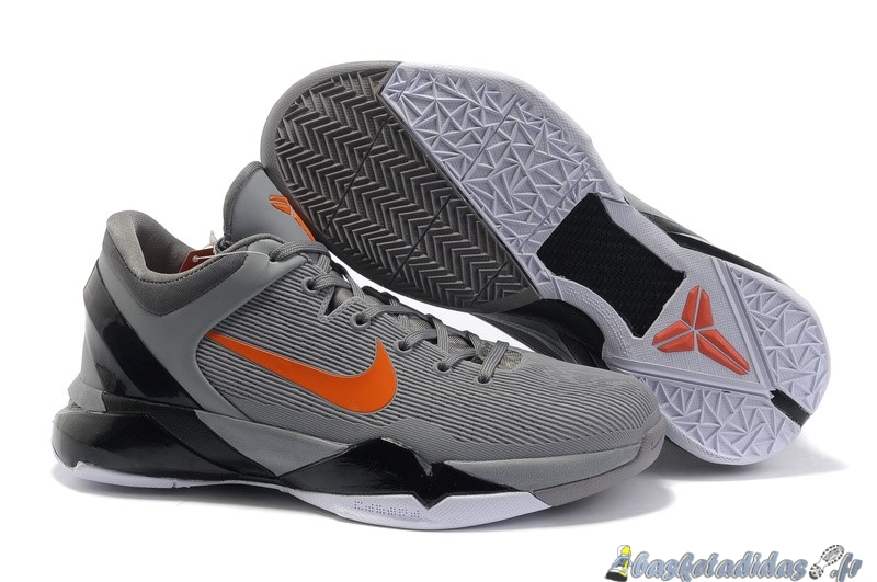 Chaussure de Basket Nike Zoom Kobe 7 Homme Gris Orange