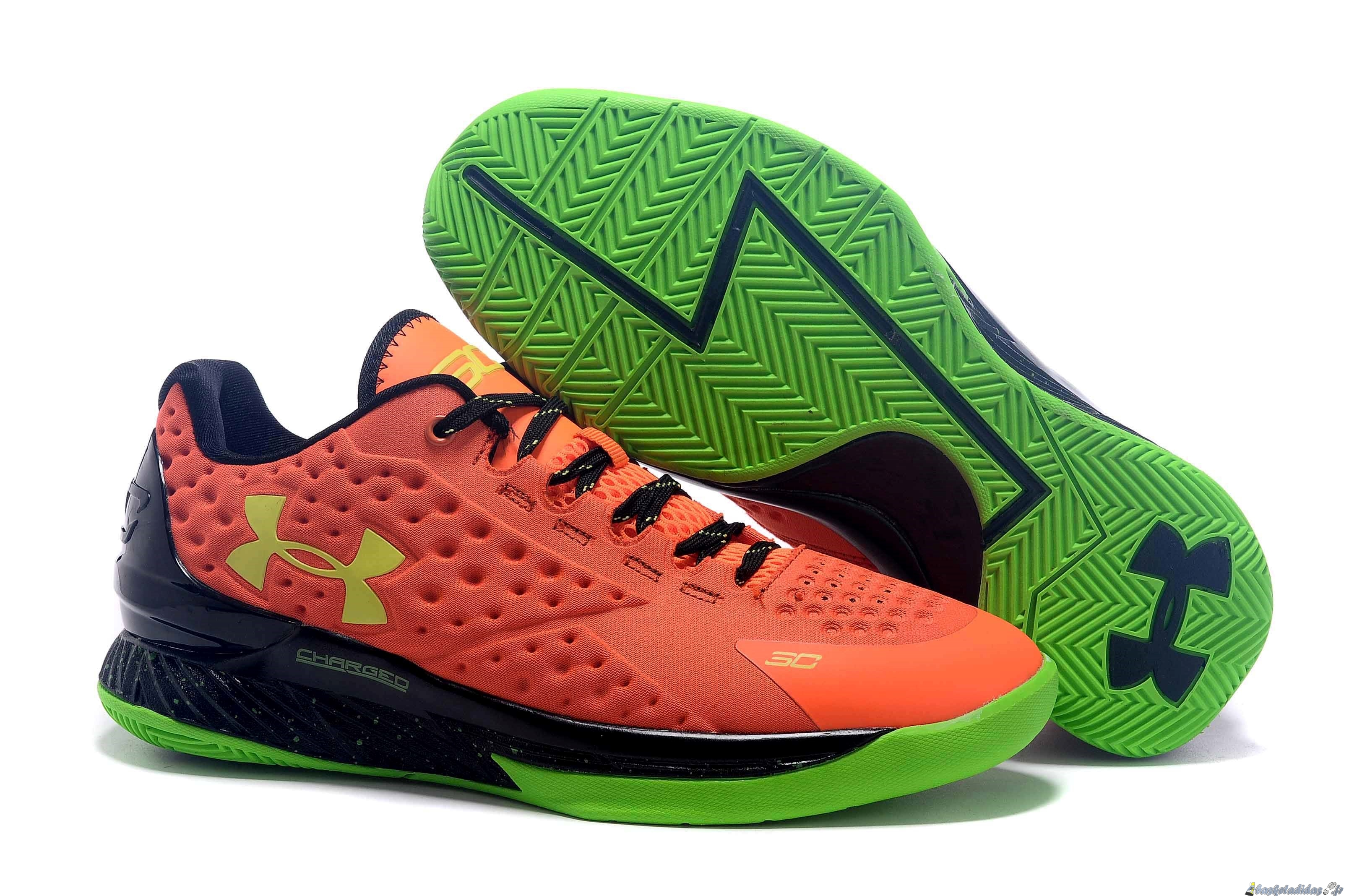 Chaussure de Basket Stephen Curry 1 Femme Orange Vert