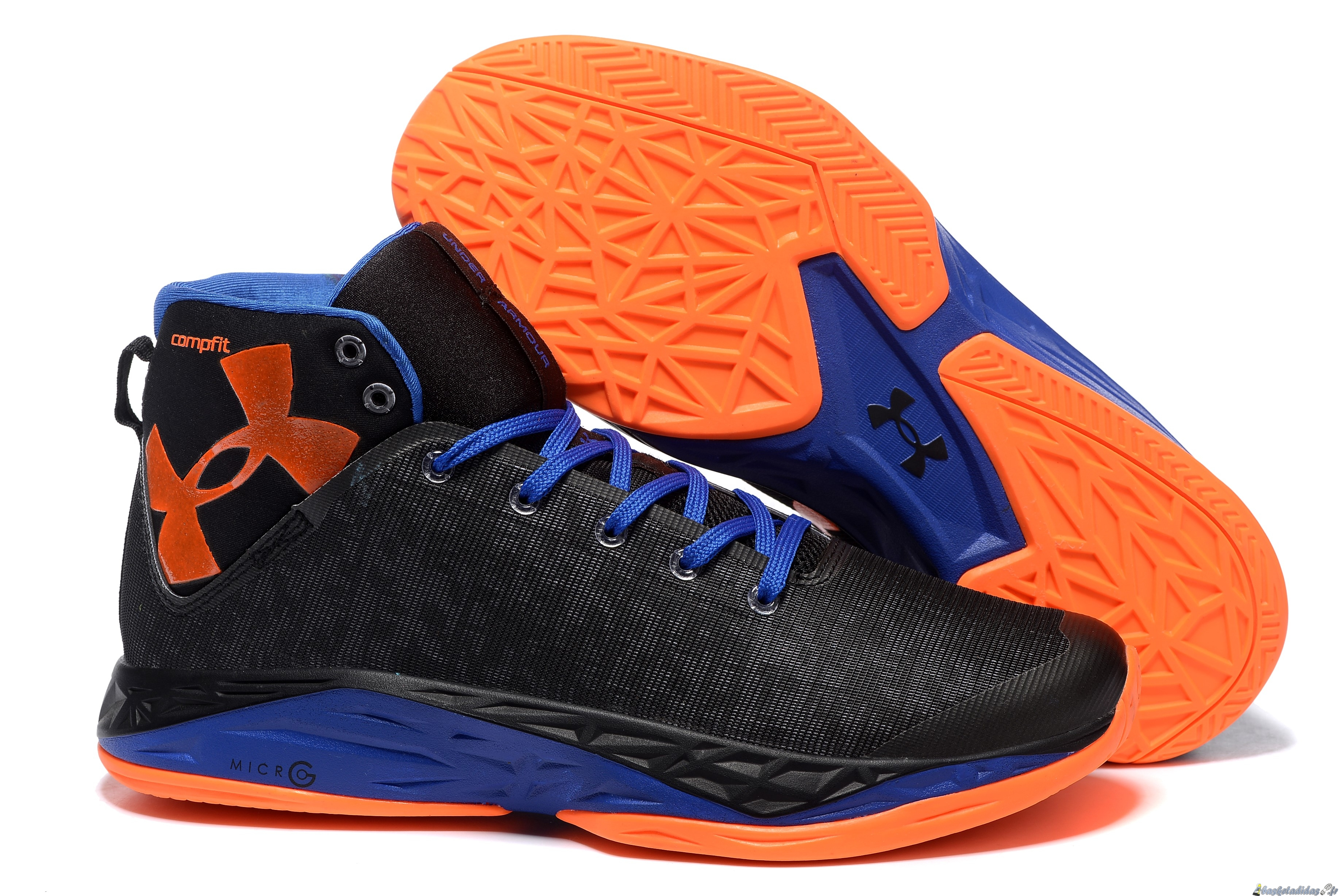 Chaussure de Basket Stephen Curry 6 Homme Bleu Orange